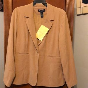 ❤️New Gorgeous Tan blazer Jacket size xl